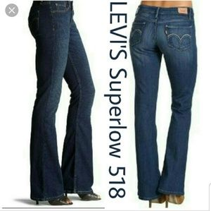 Levi's 518 super low bootcut denim Jean's 13s